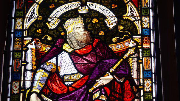 King, Hakon, Norway, Stained Glass, Window