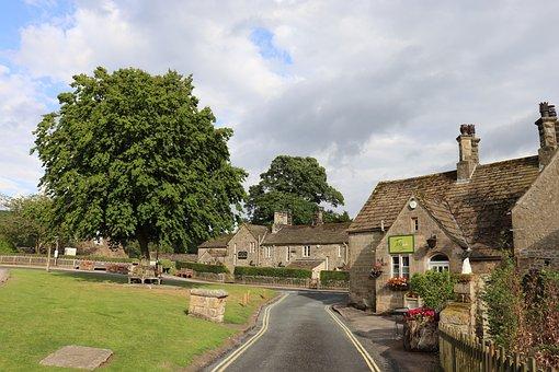 Yorkshire, Village, Stone, Tree, Rural, United Kingdom