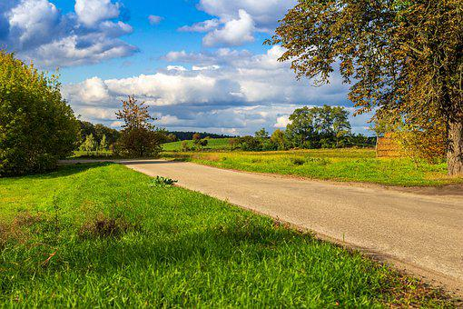 Way, Meadow, Landscape, Road, Green, Atmosphere, Trees