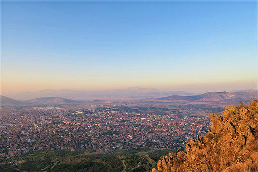 Isparta, Turkey, City, High, Landscape, Travel