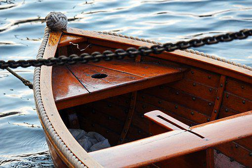 Rowing Boat, Dinghy, Wooden Boat, Boat, Water, Waters