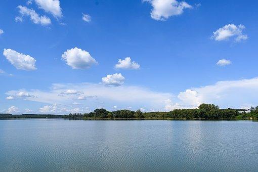 Lake, Landscape, Wilderness, Sky, Blue, Water, Wave