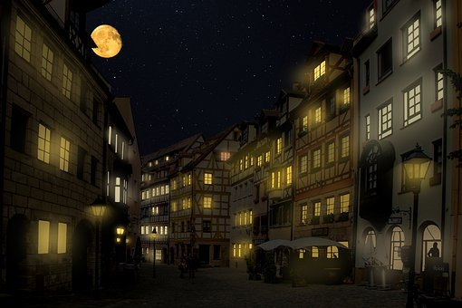 Background, Travel, Nuremberg, Architecture, Night
