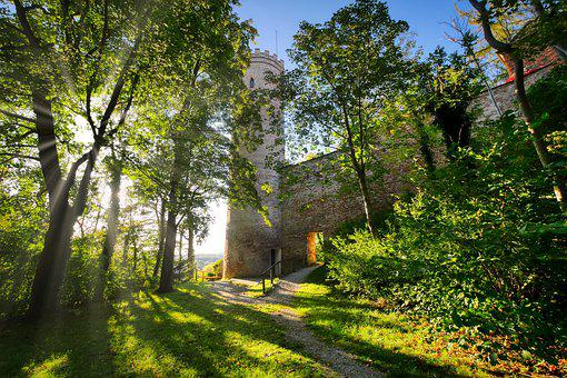 City Wall, Sunbeam, Trees, Goal, Passage, Landsberg