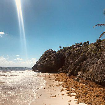 Playa, Beach, Sea, Coast, Water, Caribbean, Cozumel