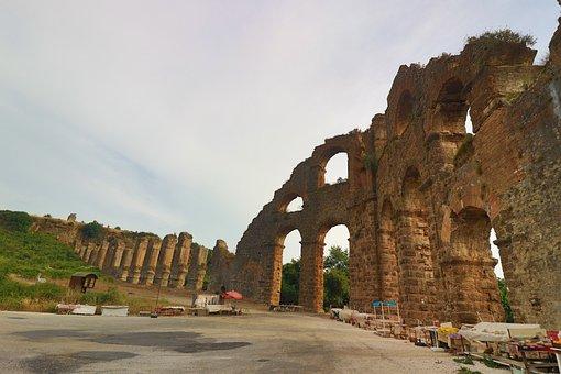 Aspendos, On, Culture, Date, Architecture, Building