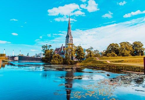 Copenhagen, Church, Cathedral, Religion, Building, Dom