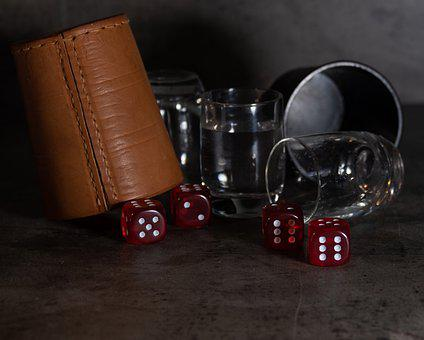 Dice, Double, Game, Luck, Drink, Party, Gambling