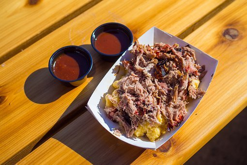 Pulled Pork, Mac And Cheese, Barbecue Sauce, Food