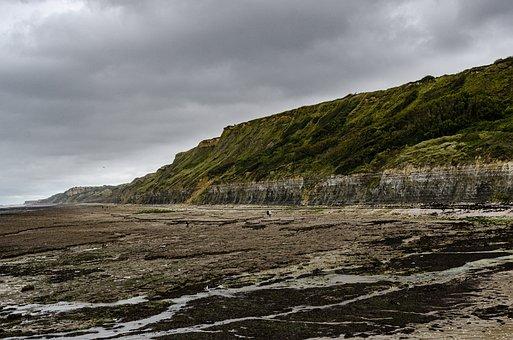 Sea, Cliff, Side, Normande, France, Landscape, Nature