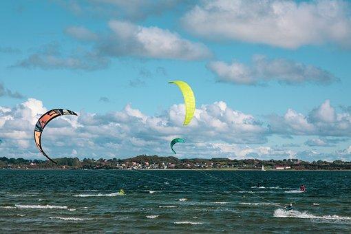 Kite Surfing, Kiting, Adventure, Dragons, Leisure