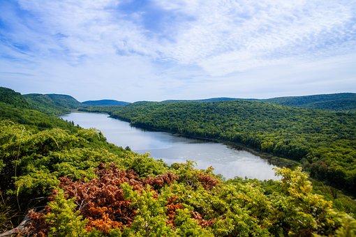 Lake, Fall, Sky, Nature, Landscape, Autumn, Trees