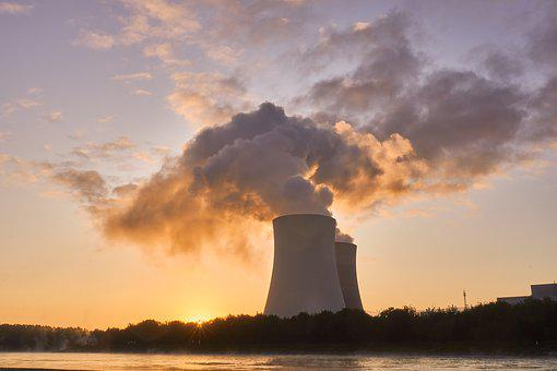 Nuclear Power Plant, Cooling Tower, Sunrise, Mood