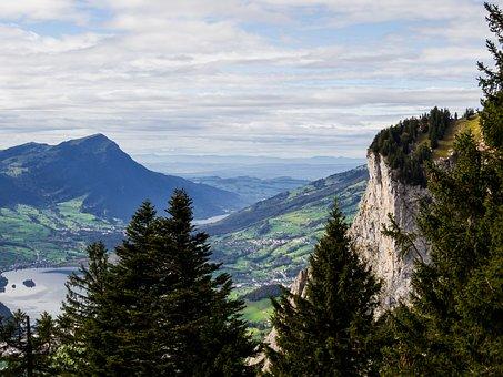 Mountains, Switzerland, Mythen Region, Alpine