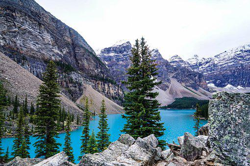 Bergsee, Turquoise, Trees, Water, Nature, Landscape