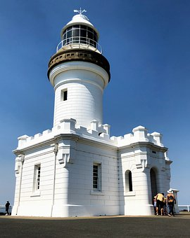 Lighthouse, Australia, Byron Bay, Costa, Ocean, Scenic