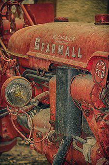 Tractor, Farmall, Former, Old, Collection, Antique