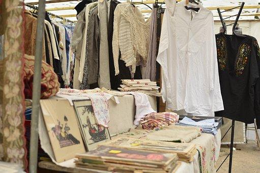 Flea Market, Market, France, Antique, Bookstore, Old