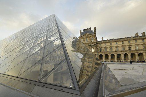 Louvre, Pyramid, Paris, France, Museum, Architecture