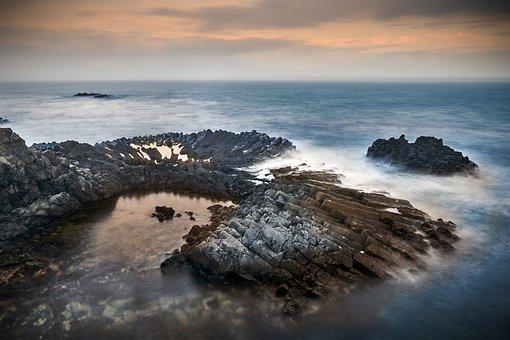 Sea, Rock, Water, Sky, Nature, Coastal, Cloud