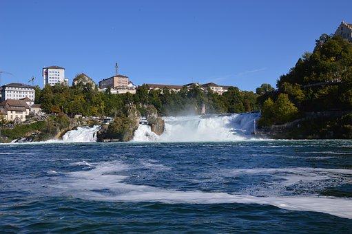 Rhine Falls, Water, Schaffhausen, Switzerland, River