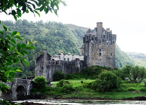 Eileen Donan, Castle, Scotland, Highlands, Water, Loch