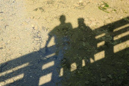 People, Shadow, Silhouette, Bridge, Water, Torque, Set