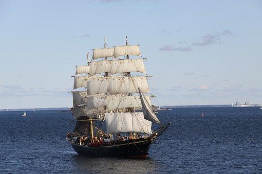 Sailing Ship, Training Ship, Ship, Master, Sea, Water