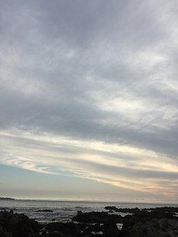 Sky, Clouds, Landscape, Sea, Ocean, Reflection, Marina
