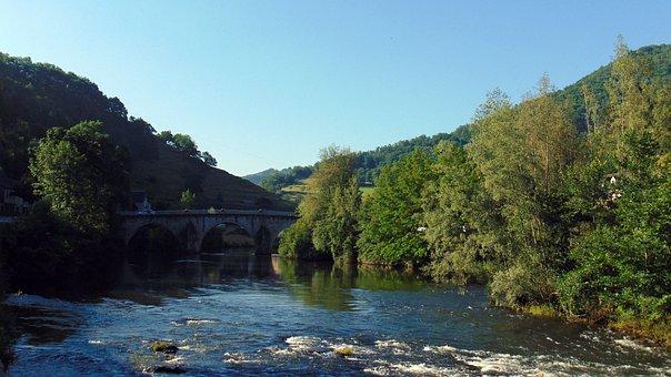 France, River, Architecture, Landscape, Travel