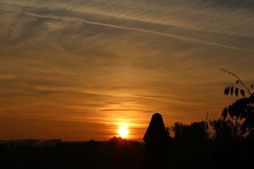 Sunset, Night Crane, Sky, Dusk, City, Twilight