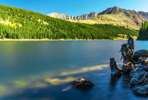 Colorado, Rocky Mountains, Lake, Pond, Water, Smooth