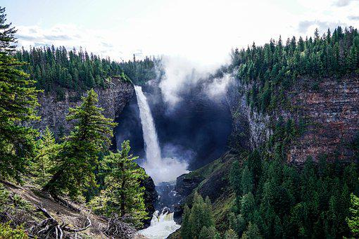 Canada, Waterfall, Nature, Waterfalls, Flowing, Sun