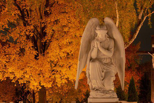 Angel, All Souls' Day, Figure, Cemetery, Tomb