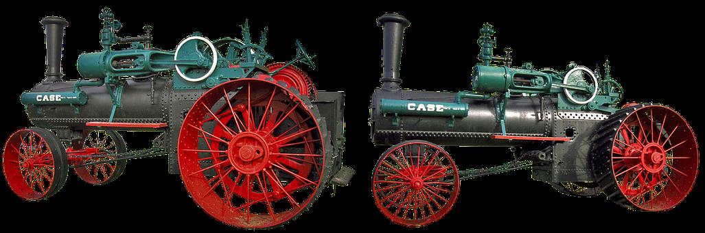 Steam Tractor, Case 1876, American Tractor, Vintage
