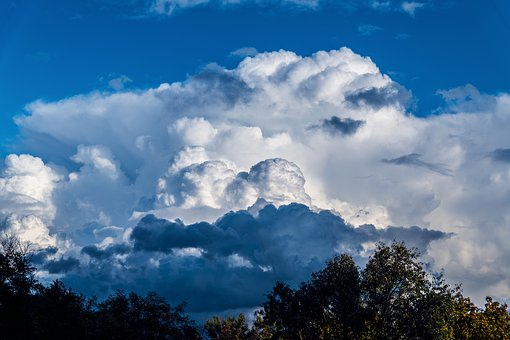 The Sky, Clouds, Blue, Nature, Weather, The Clouds