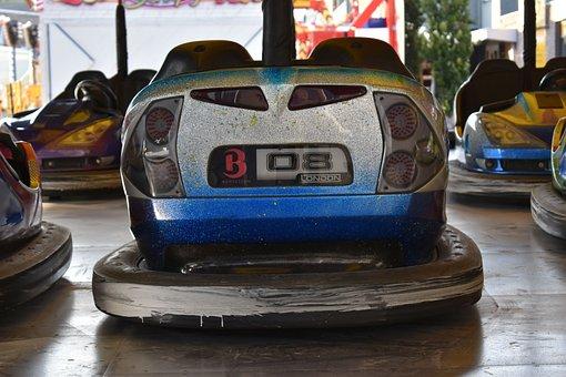 Autoscooter, Car, Funfair, Bumper Cars, Colors, Fun