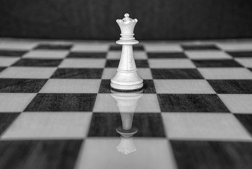 Queen, Chess, Chess Board, Chess Pieces, White