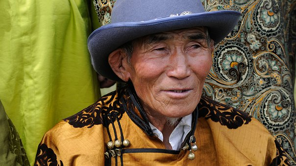 Mongolia, Man, Portrait, Face, Clothing, Tradition