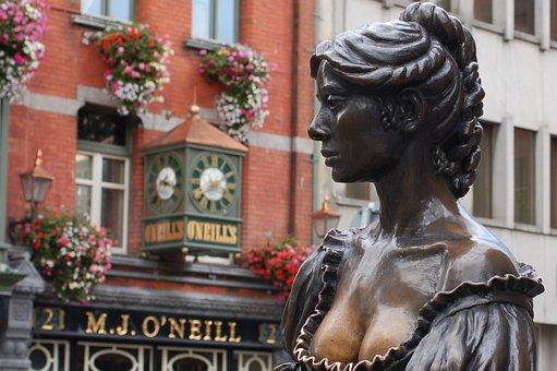 Molly Malone Statue, Dublin, Molly Malone, Statue