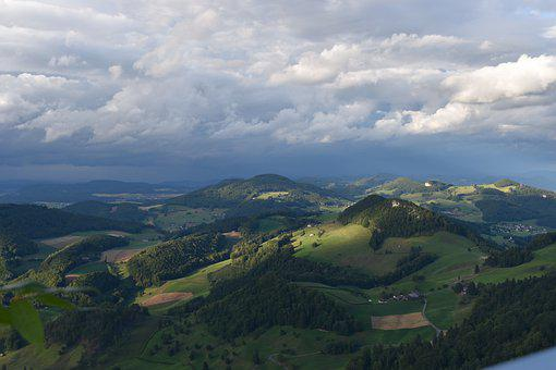 Basel-land, Nature, Switzerland, Eptingen, Hill, Jura