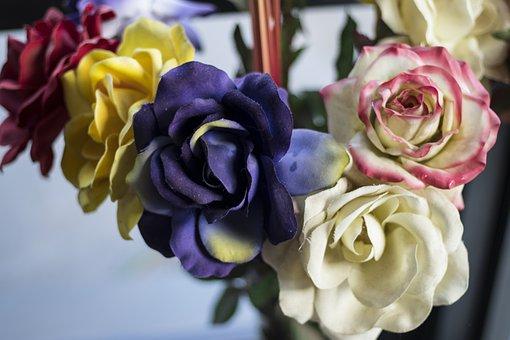 Fake Flowers, Ersatz, Bouquet, Bouquet Of Flowers