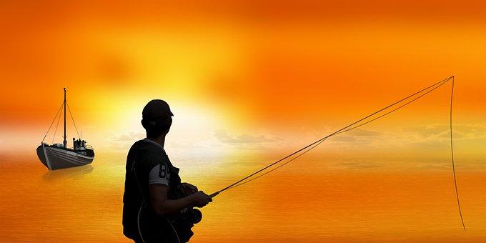 Background, Leisure, Fisherman, Fishing Rod, Boat