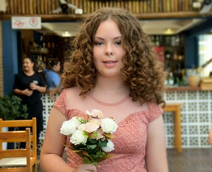 Lady, Maid Of Honor, Dress, Girl, Bouquet, Woman, Love