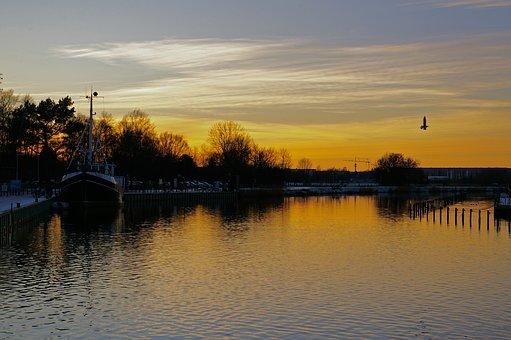 Sunset, Greifswald, Eldena, Sky, Abendstimmung, Dusk