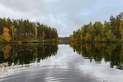 Mariannelund, Sweden, Lake, Water, Landscape, Nature