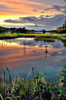 Landscape, Nature, Clouds, Marsh, Water, Atmospheric