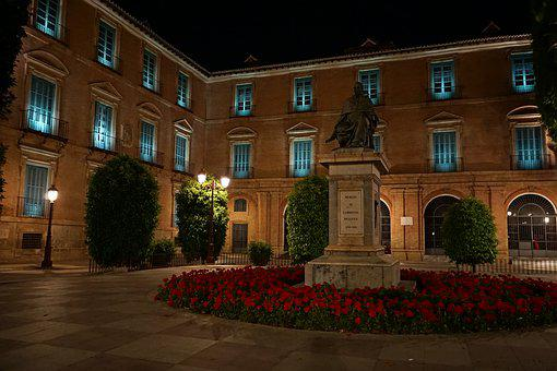 Marcia, Spain, Building, Historic Center, Night
