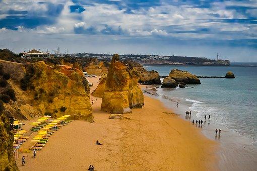 Portugal, Portimao, Trip, Holiday, Beach, Sea, Sand