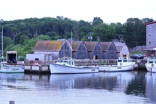 Fishing Boats, Lobster, Boat, Harbor, Sea, Ocean, Boats